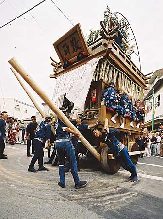 The float of grand festivals in Sawara